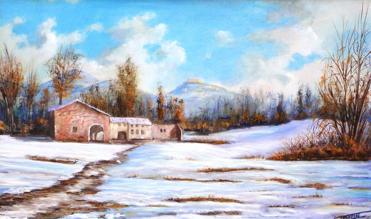Colli asolani - Dipinto ad olio - cm 52 x 35 - Anno 2014