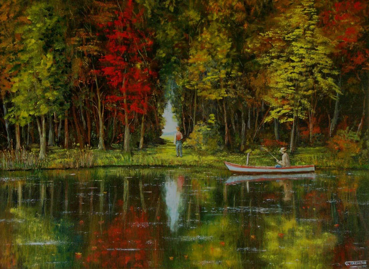 Colori del Sile - Dipinto ad olio - cm 65 x 47 - Anno 2013
