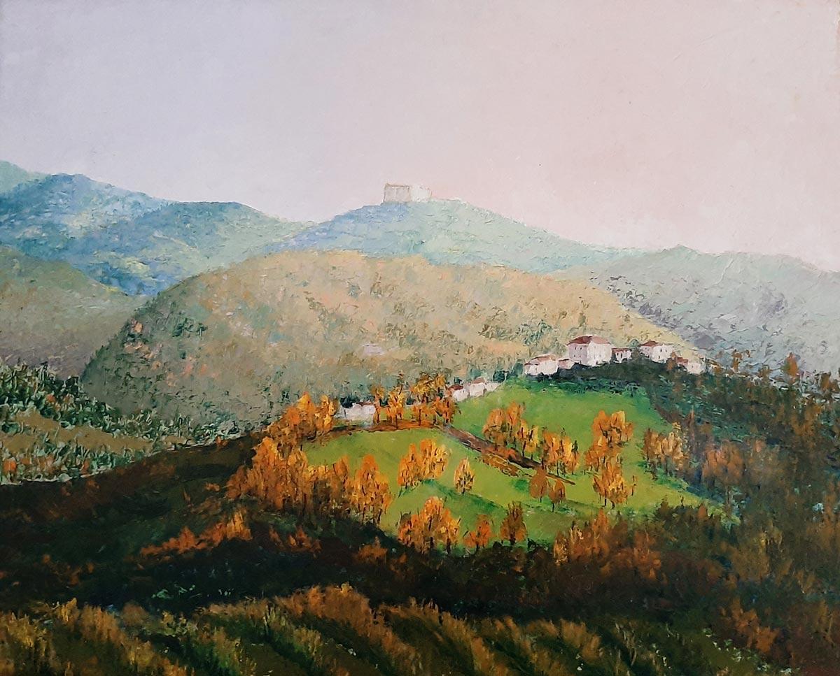 Dipinto ad olio con spatola - cm 50 x 70