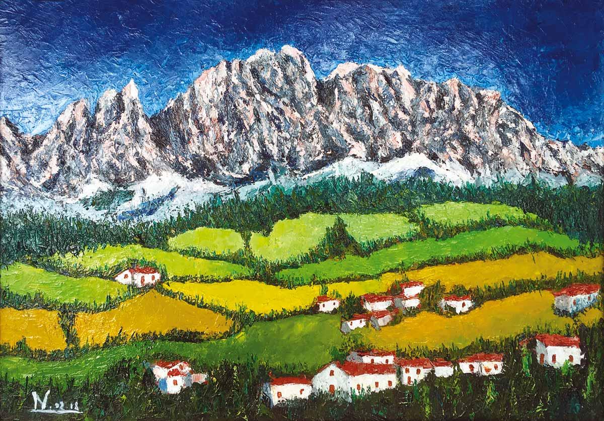 Dolomiti - Dipinto ad olio