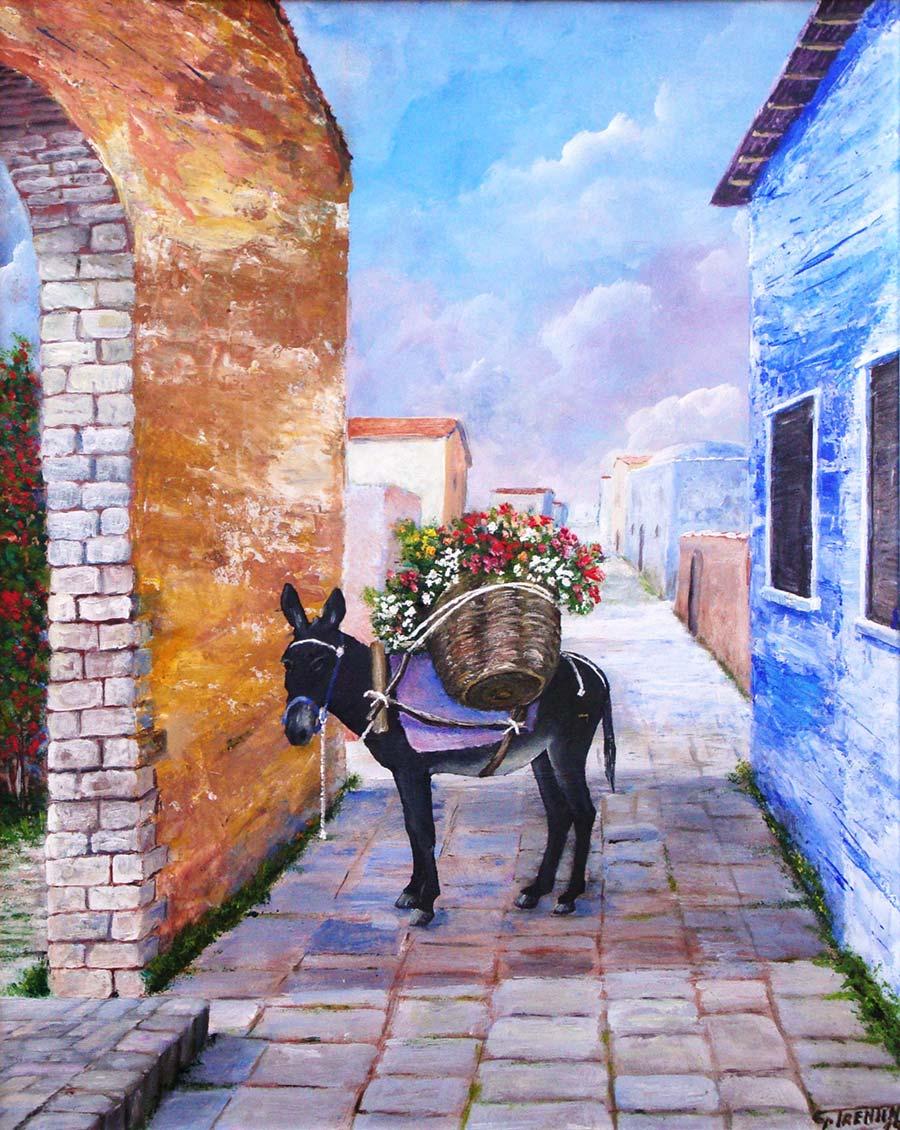 Il Mulo - Dipinto ad olio