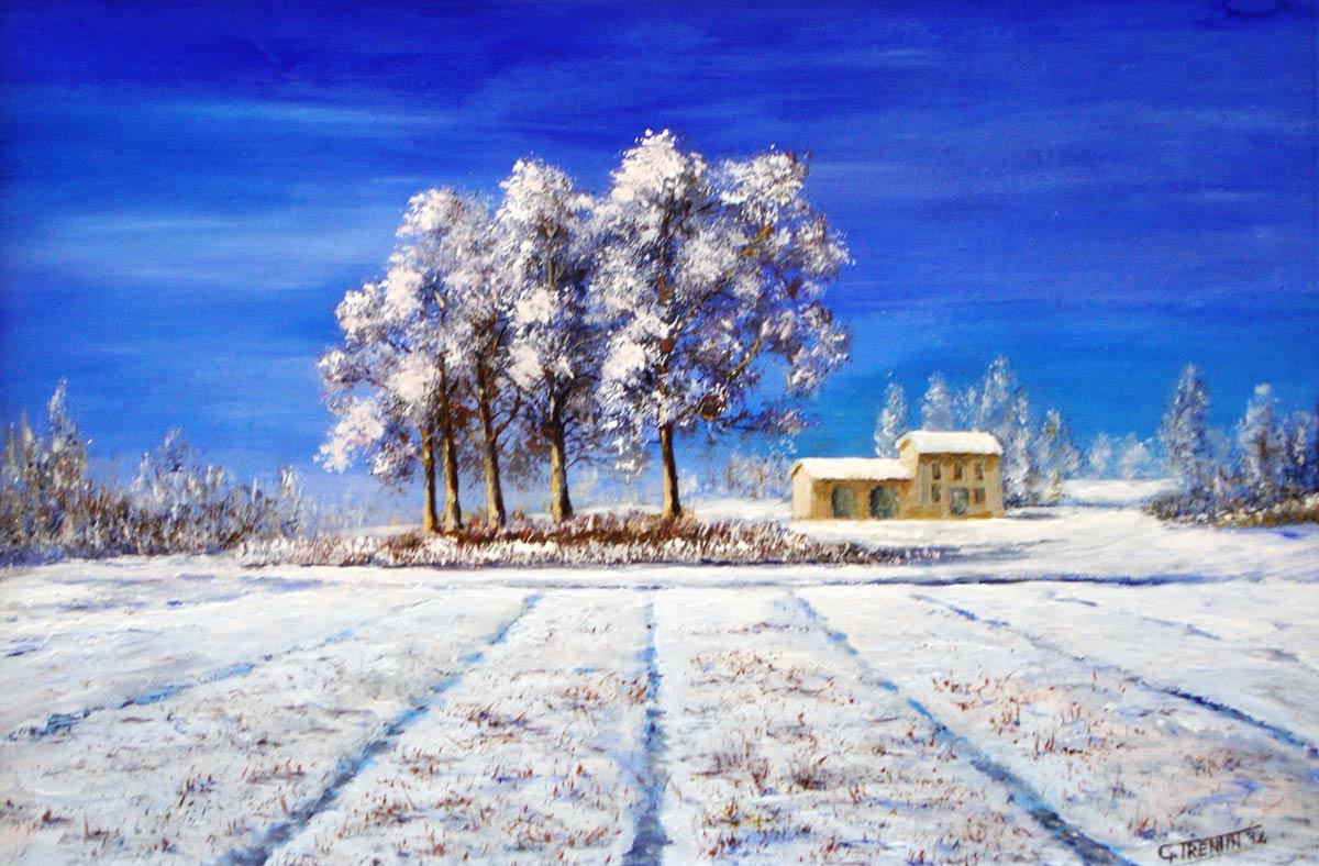 Inverno - Dipinto ad olio - cm 42 x 28 - Anno 2014