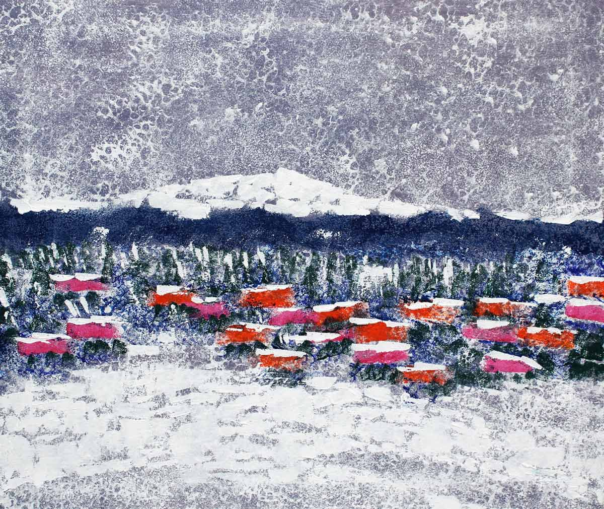 Inverno - Dipinto ad olio - cm 60 x 70