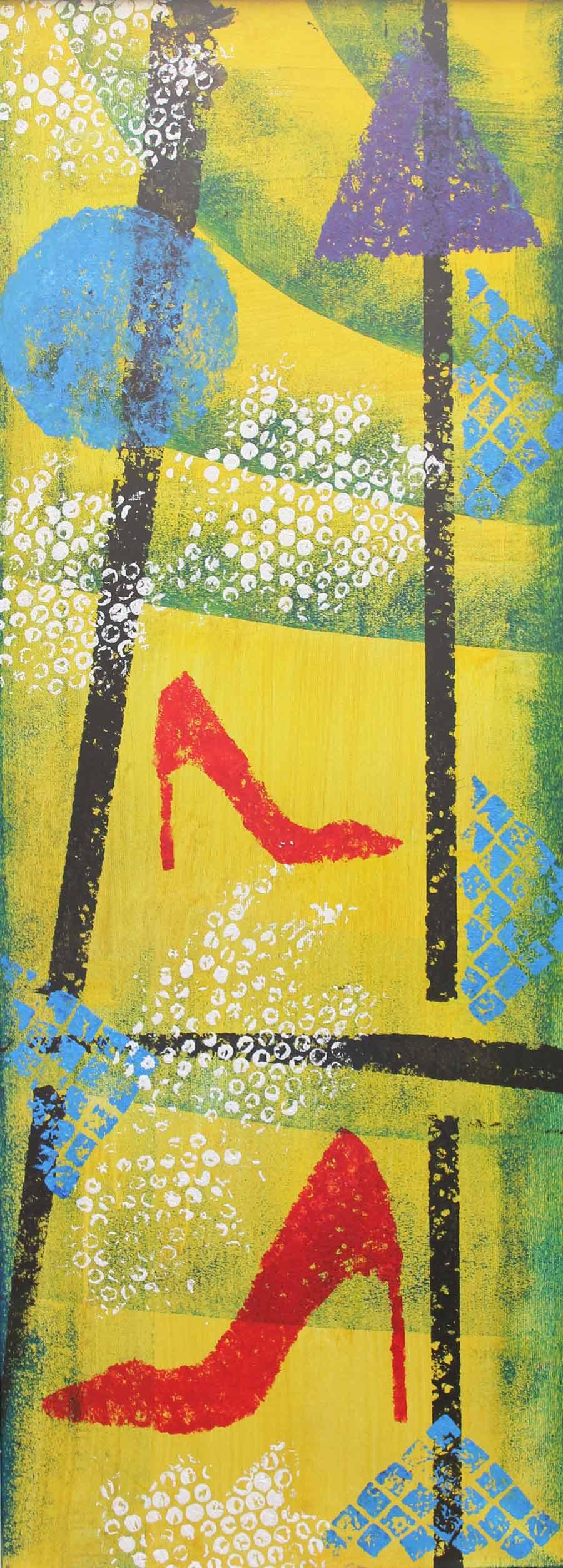 Le mie scarpette - Tecnica mista - cm 30 x 80